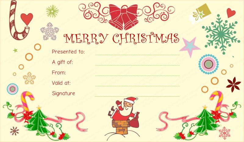 free microsoft christmas gift certificate templates fun gift