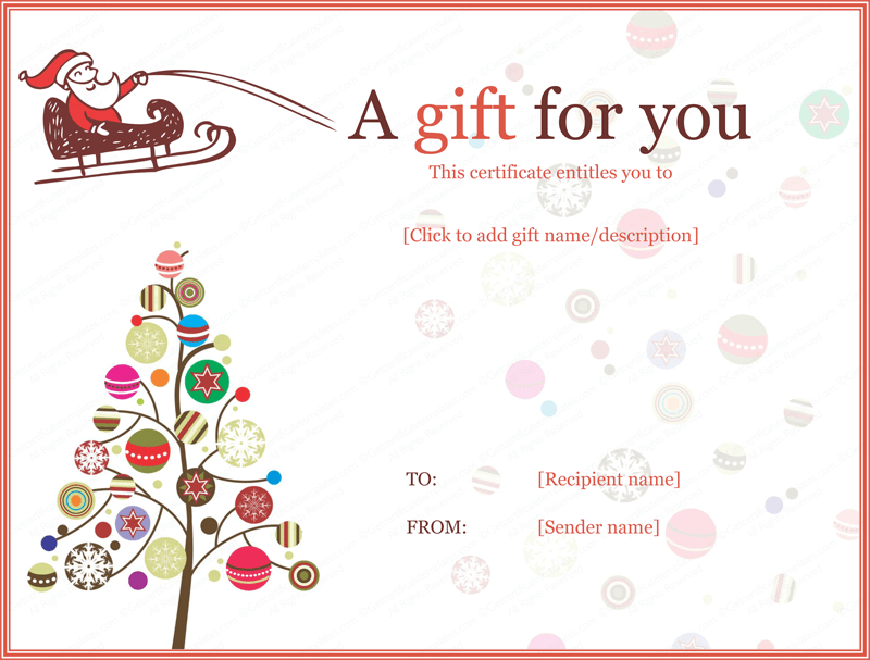 merry christmas gift certificate templates jolly simple christmas