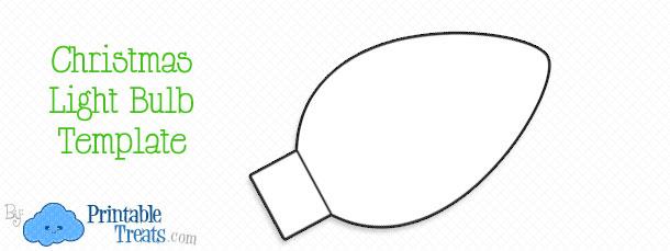 Printable Christmas Light Bulb Template — Printable Treats.com