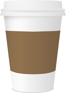 Best coffee paper cup template vector Free vector in Encapsulated