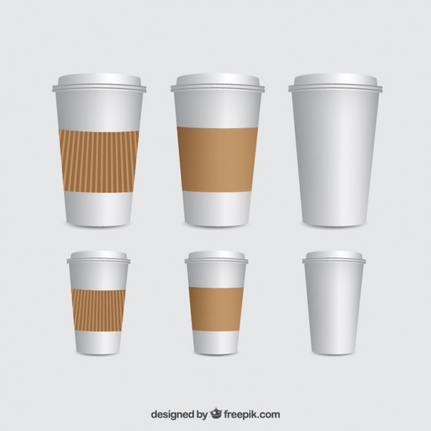 Coffee cups template Vector | Free Download