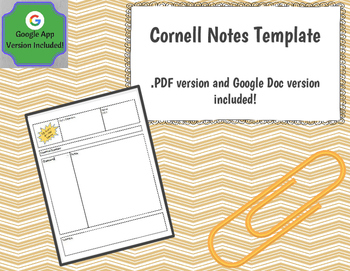 Cornell Notes Template (Google Docs Version Included!) by Koch's