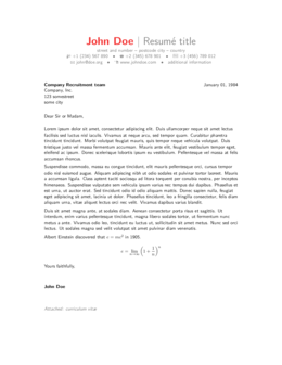 Cover Letters ShareLaTeX, Online LaTeX Editor