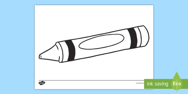Color Crayon Template Printable | First day art | Pinterest