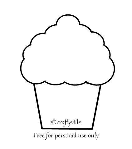 Printable Cupcake Template | Emersyn's 1st Birthday | Pinterest