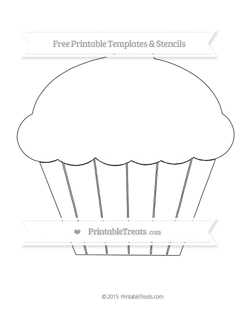 Cupcake pattern. Use the printable outline for crafts, creating