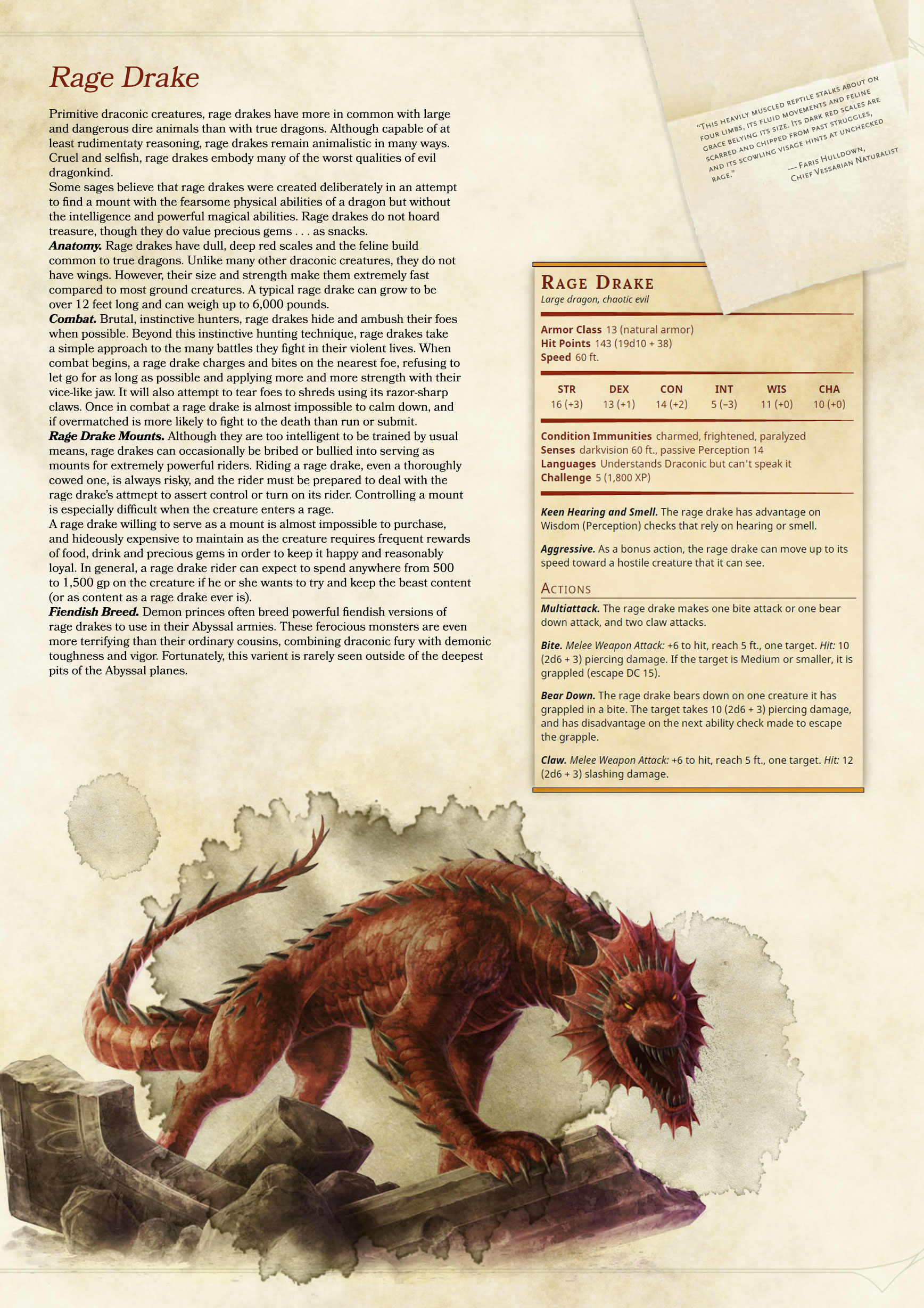 5e] Tried to recreate the monster manual's style when making