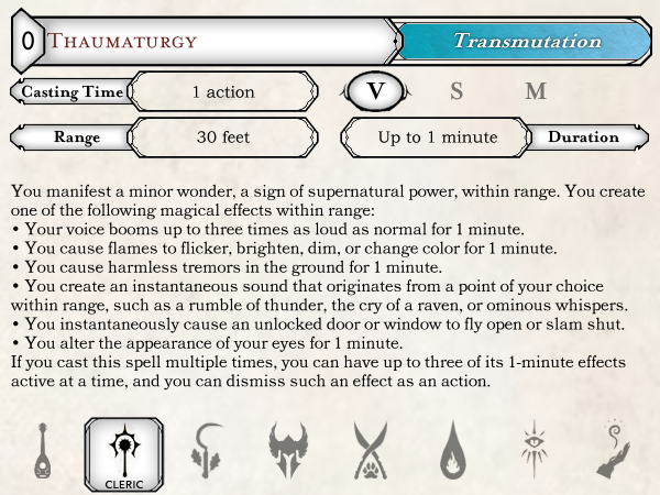 5E] MSE2 Spell Card Template