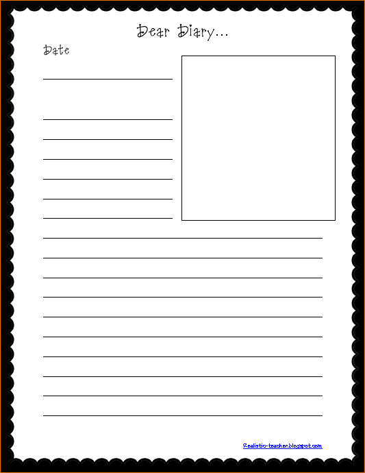 diary paper template April.onthemarch.co