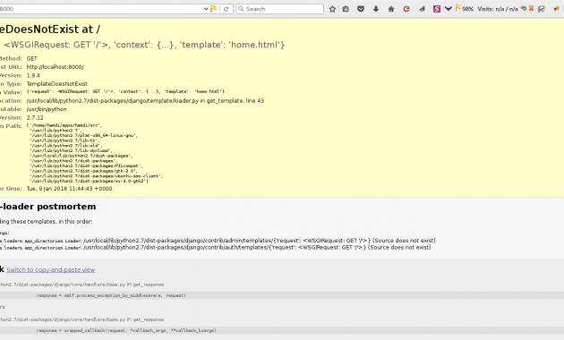 How to Solve Django Error Message : TemplateDoesNotExist at