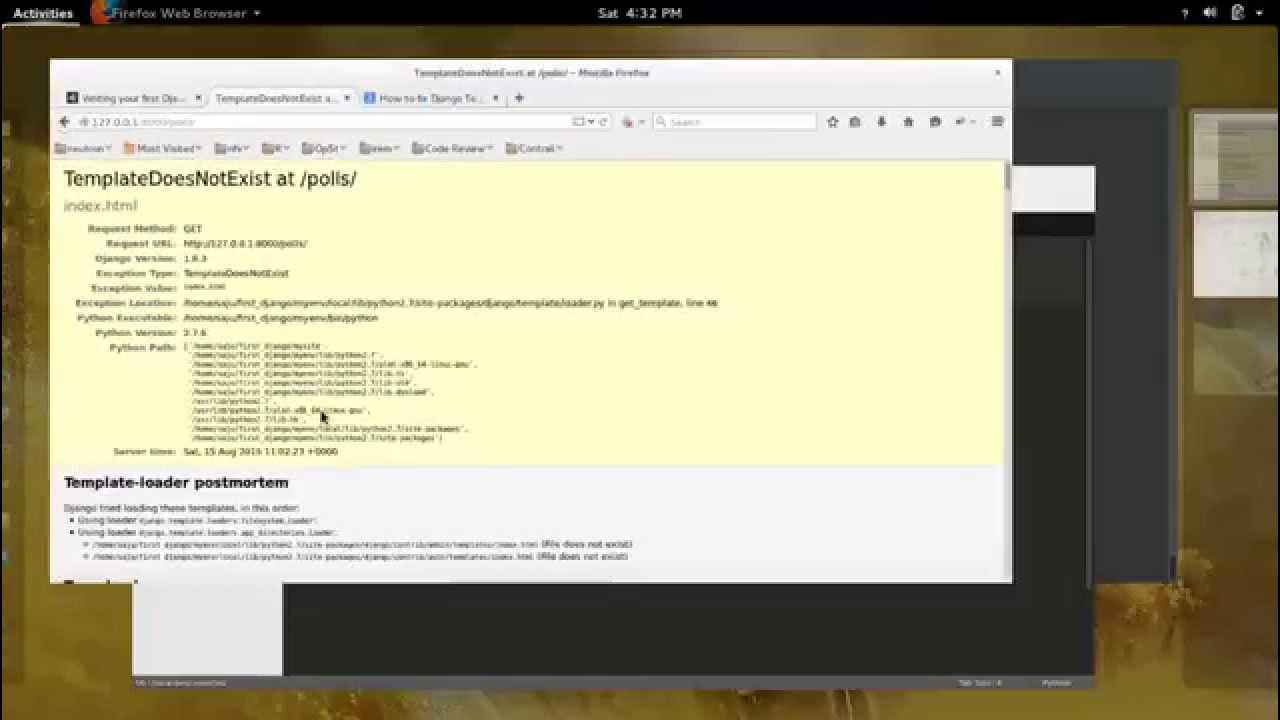 How to fix Django TemplateDoesNotExist Error YouTube
