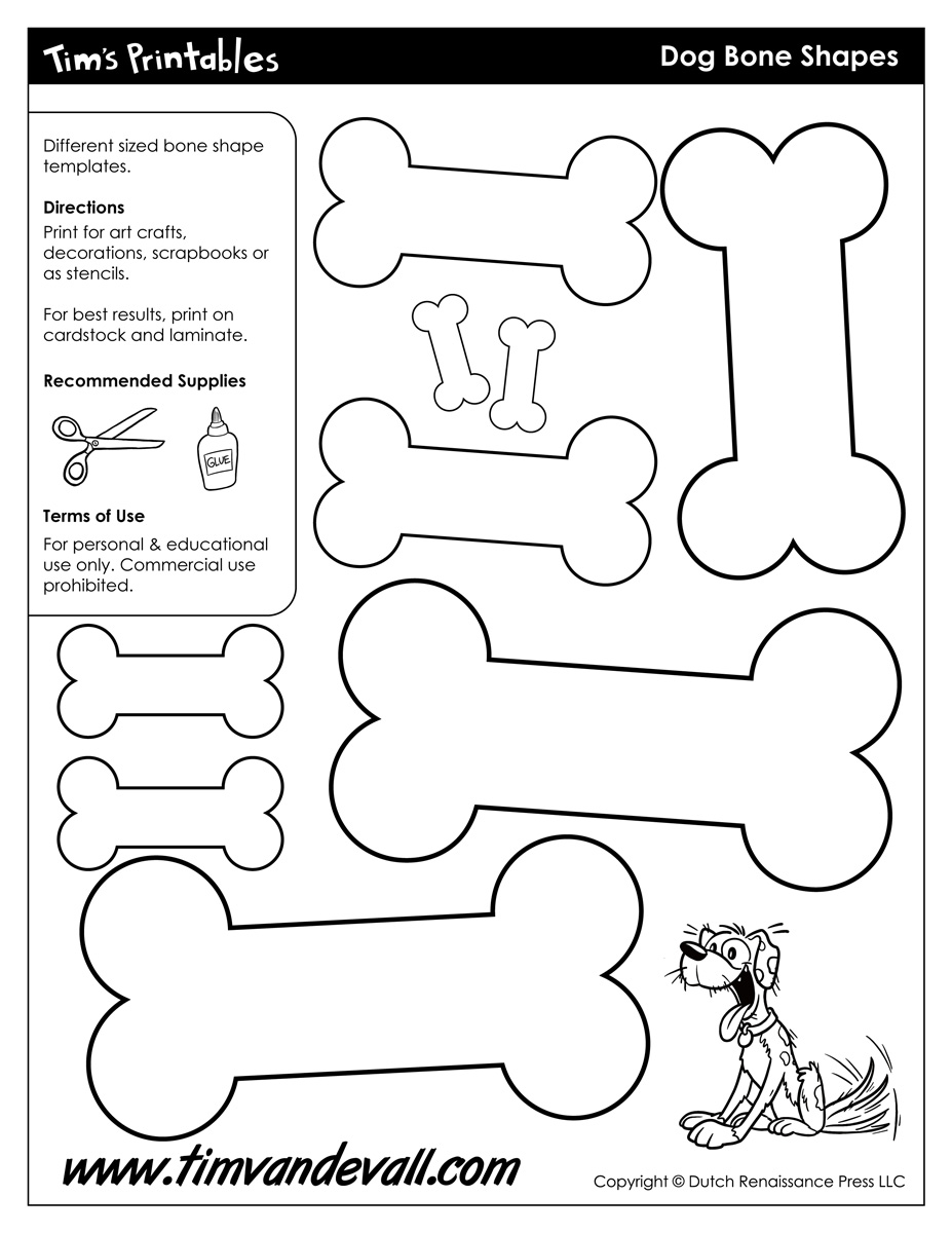 dog bone template printable Google Search | Birthdays