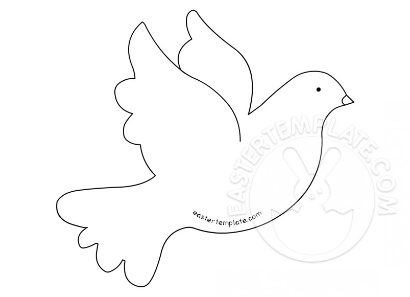 Printable Dove Template