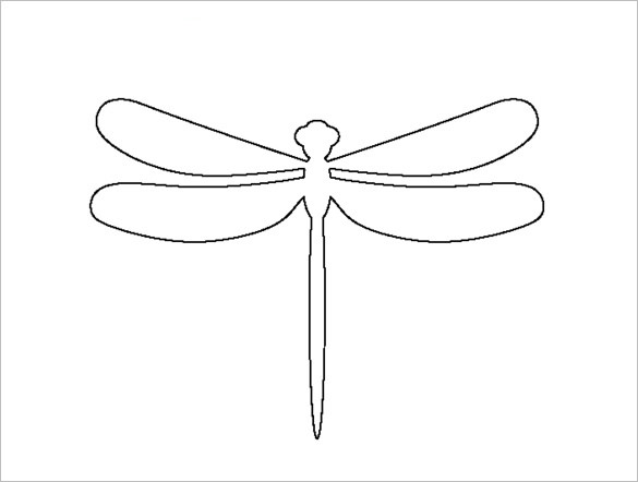 Dragonfly pattern. Use the printable outline for crafts, creating