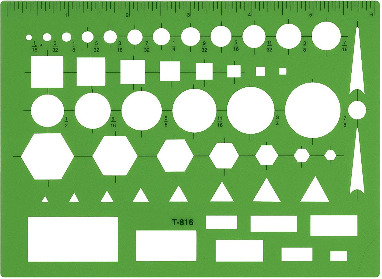 Amazon.com: Westcott Technical Drawing Template (T 816): Arts