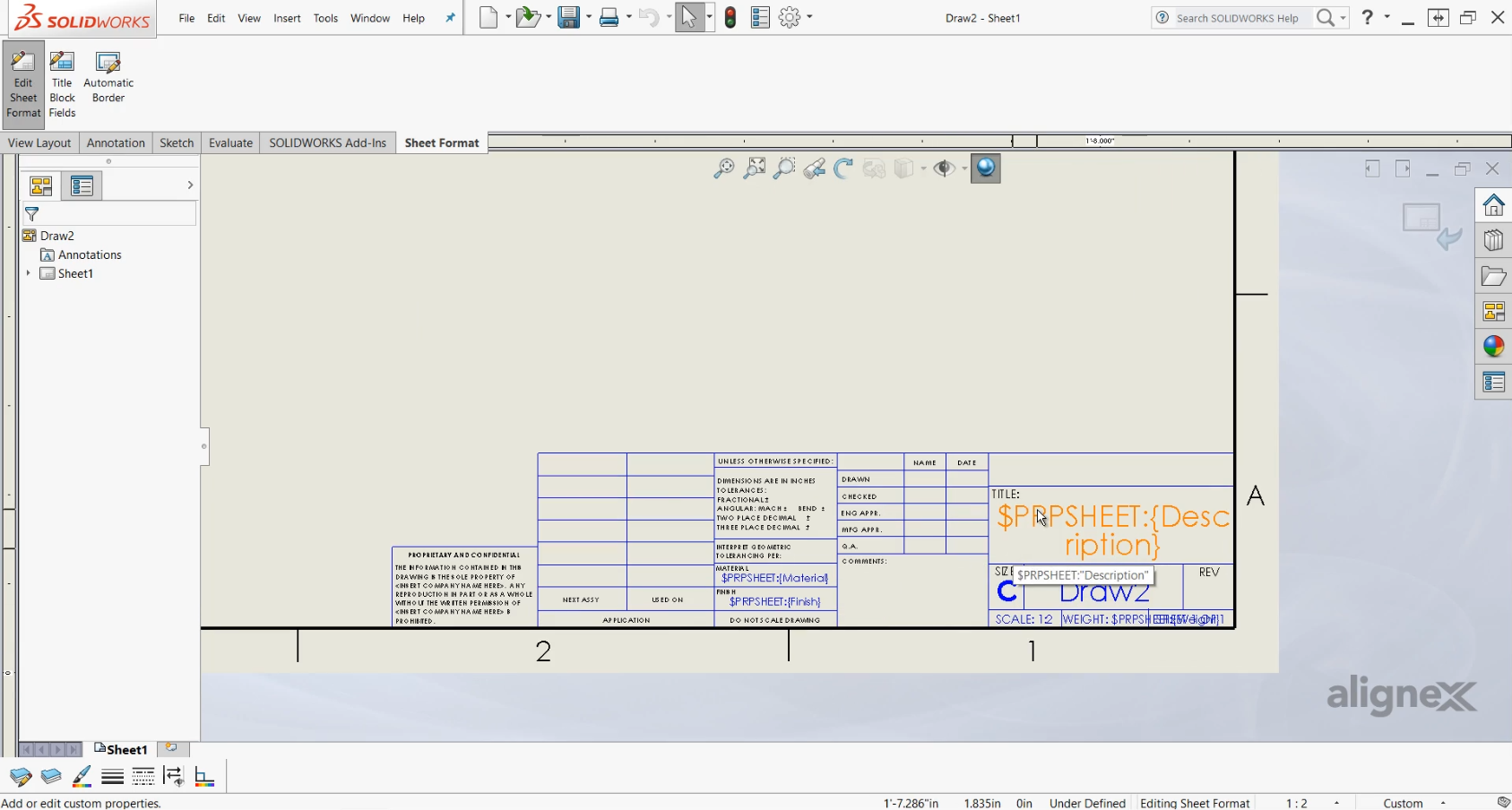How to Create Drawing Templates and Sheet Formats in SOLIDWORKS