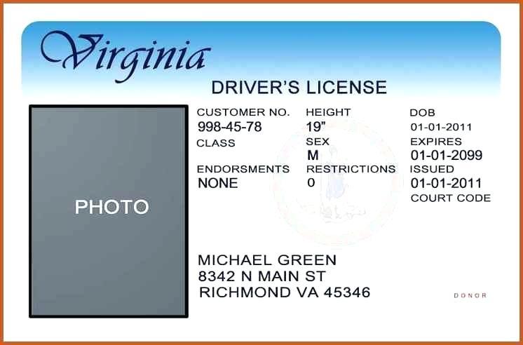 Template california drivers license editable photoshop file .psd