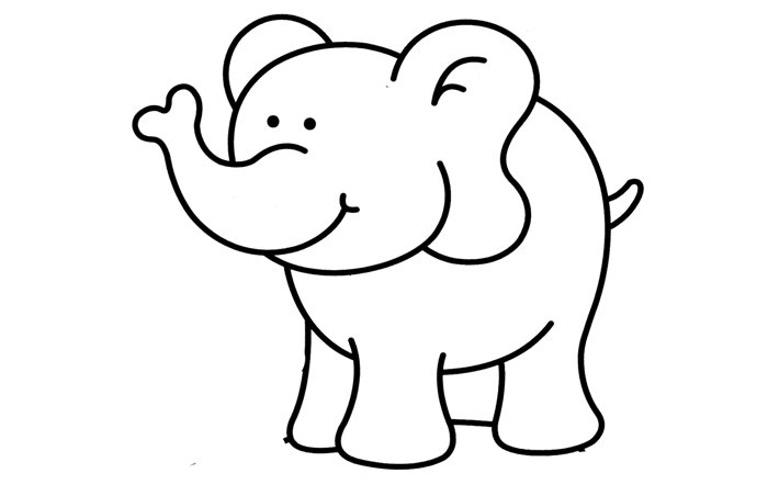 elephant template printable April.onthemarch.co
