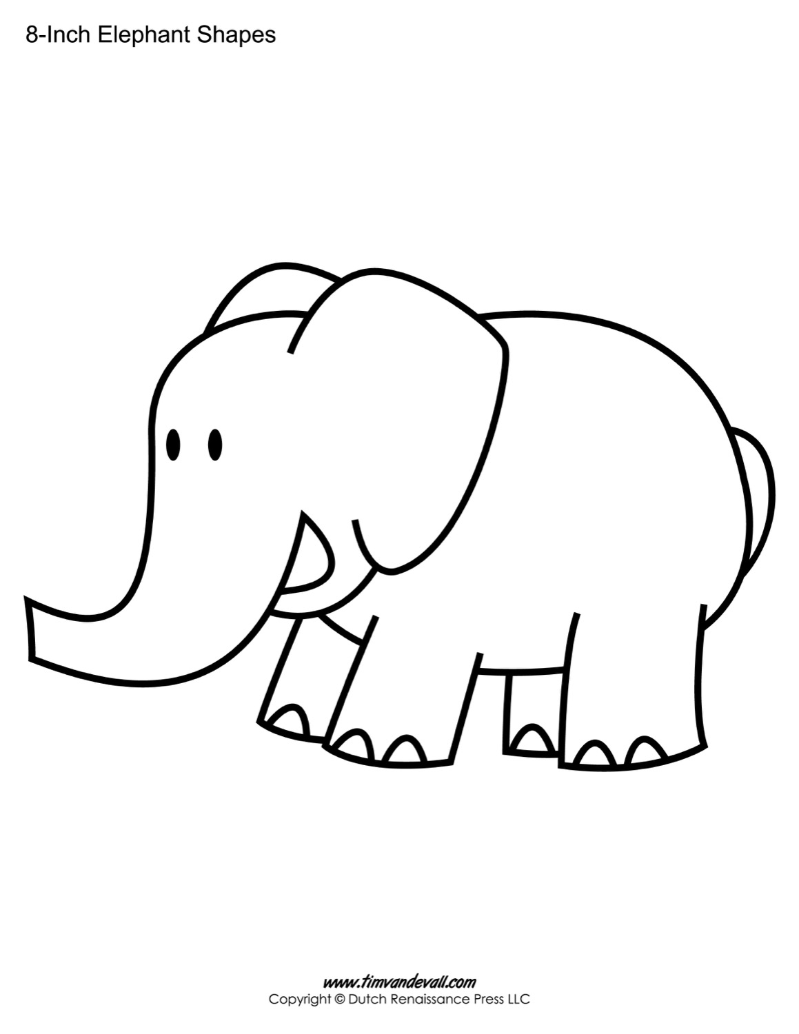 elephant template April.onthemarch.co