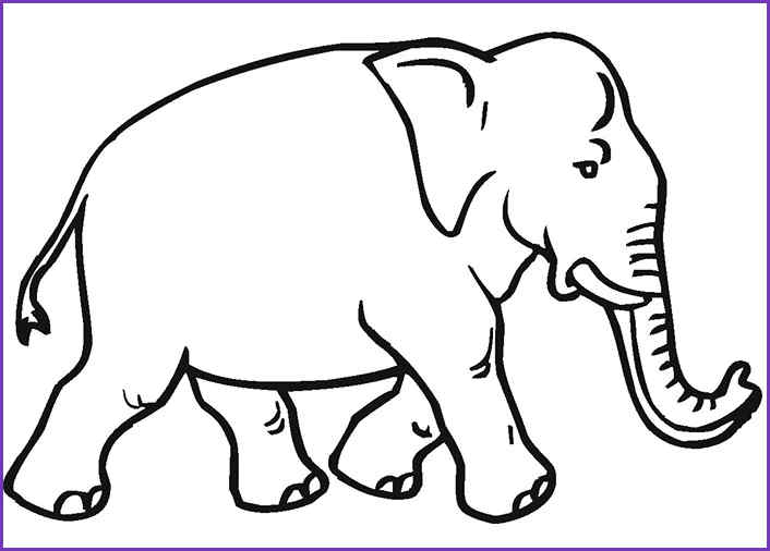 Simple elephant pattern. Use the printable outline for crafts