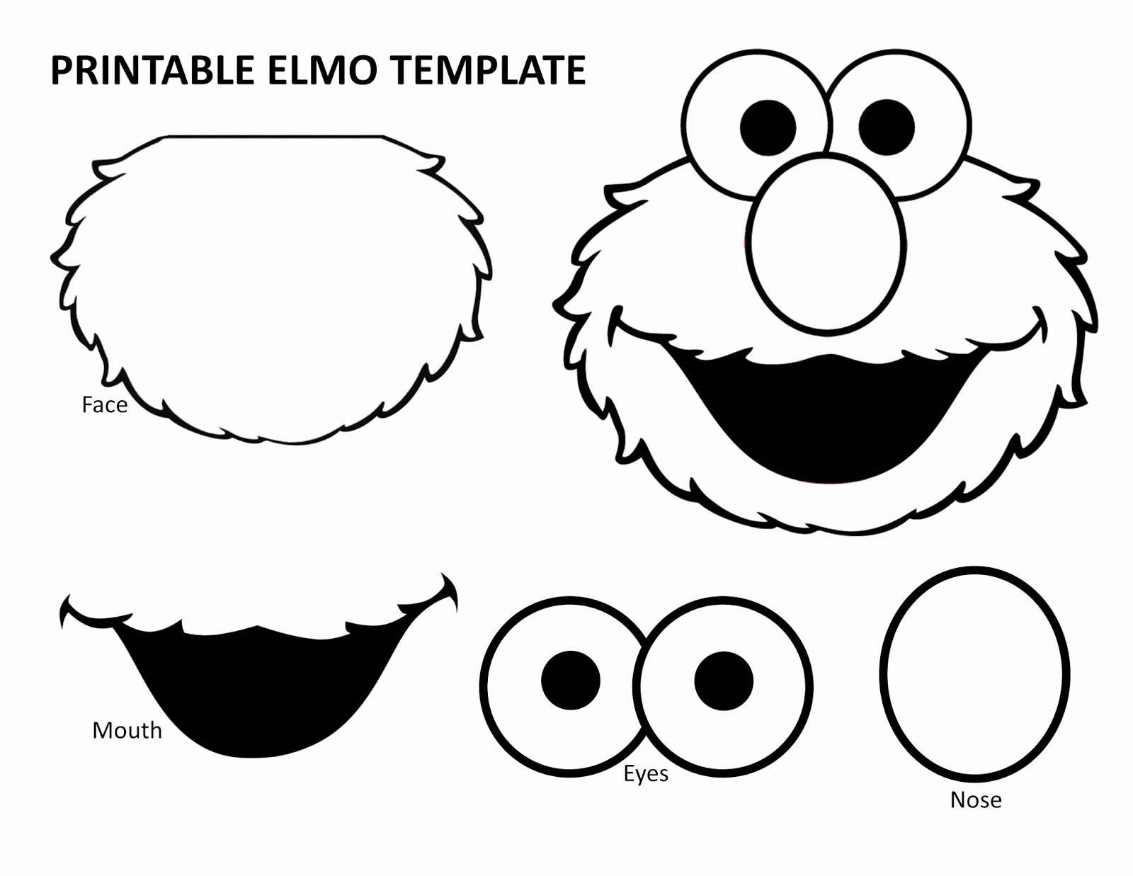 Elmo Face Template Elegant Elmo Face Template Image Collections