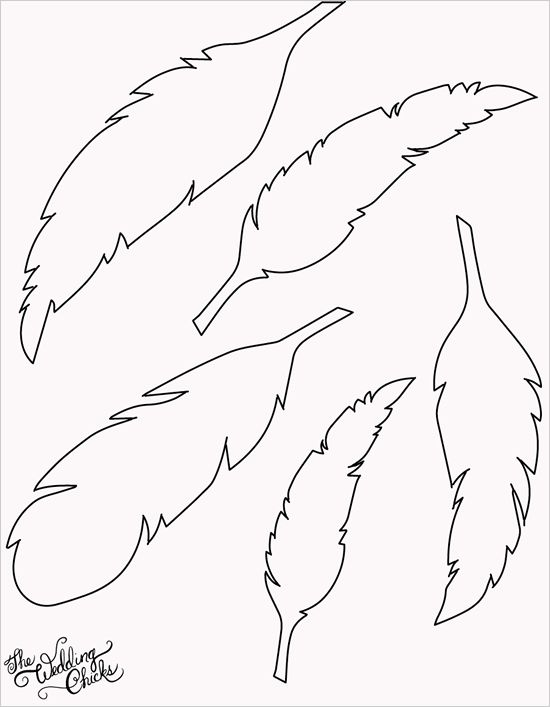 printable feather templates April.onthemarch.co