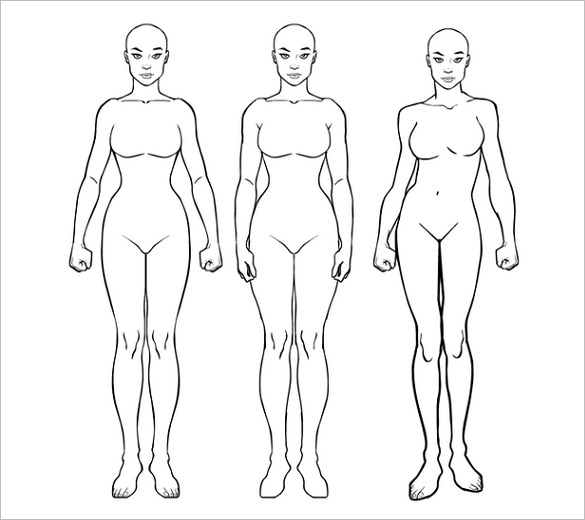 Woman Body Drawing Template at GetDrawings.| Free for personal