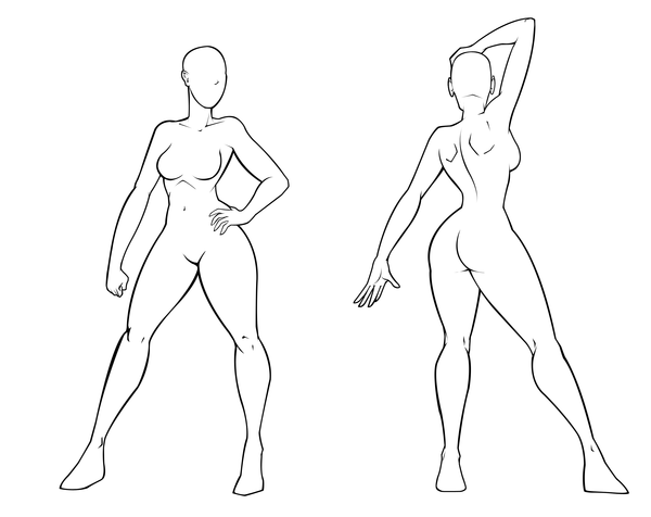Female Template by Dualmask on DeviantArt