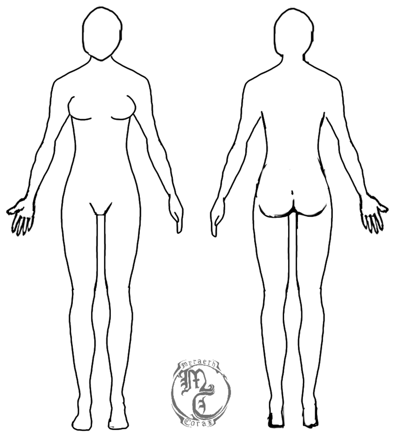 Human Body Template Female by MyraethCorax on DeviantArt