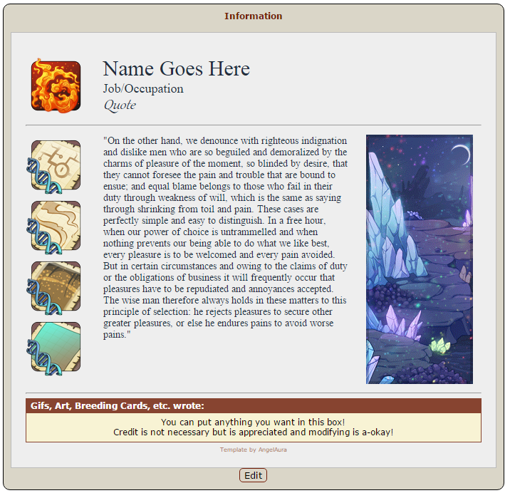 Resource] Dragon Bio Templates v2   Guides   Flight Rising