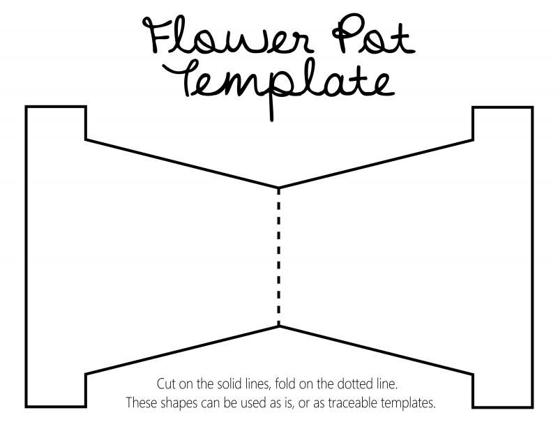 Flower Pot Template | merrychristmaswishes.info