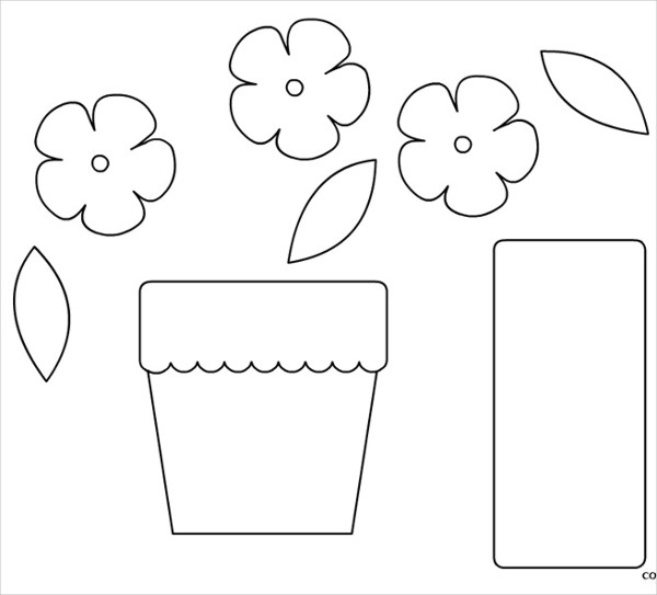 Printable Flower Pot Template
