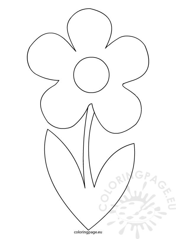 Simple flower stem template | Flowers Templates