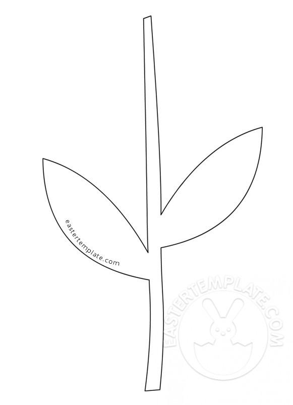 Printable Flower Stem Template | Easter Template