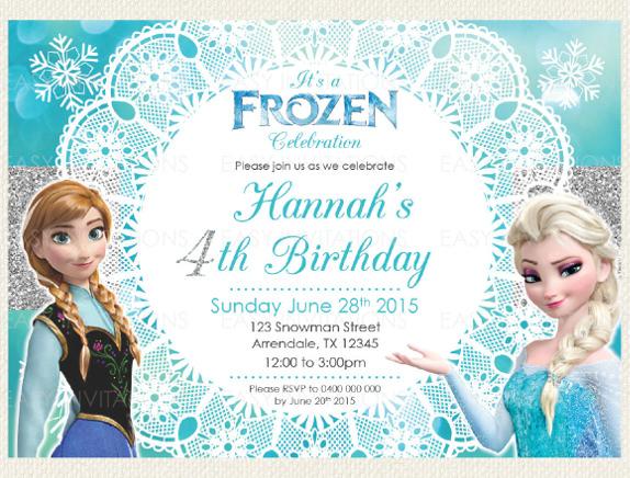 Frozen Invitations Templates Frozen Invitation Template Free