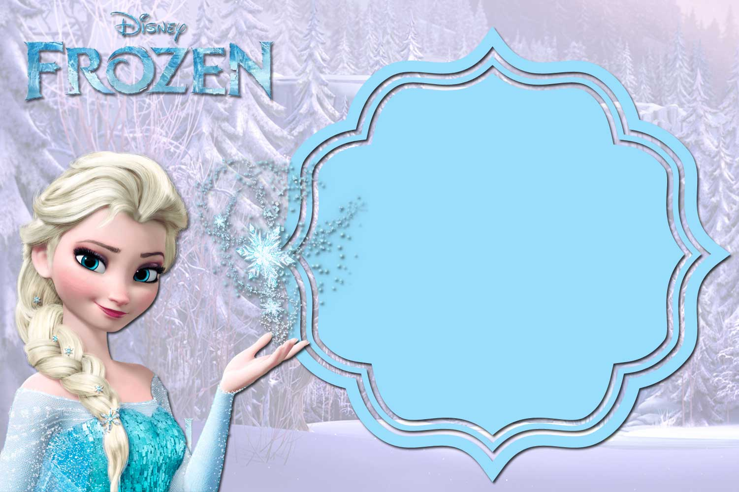 Frozen Templates Nice Free Printable Frozen Birthday Invitations