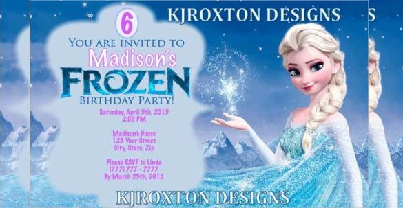 26+ Frozen Birthday Invitation Templates PSD, AI, EPS | Free