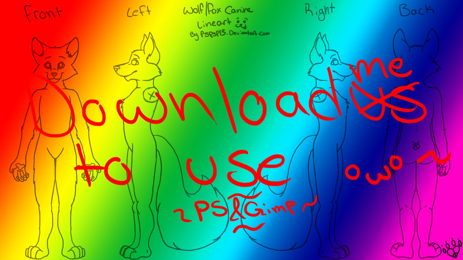 Fox Furry Template/Lineart by Raveology on DeviantArt