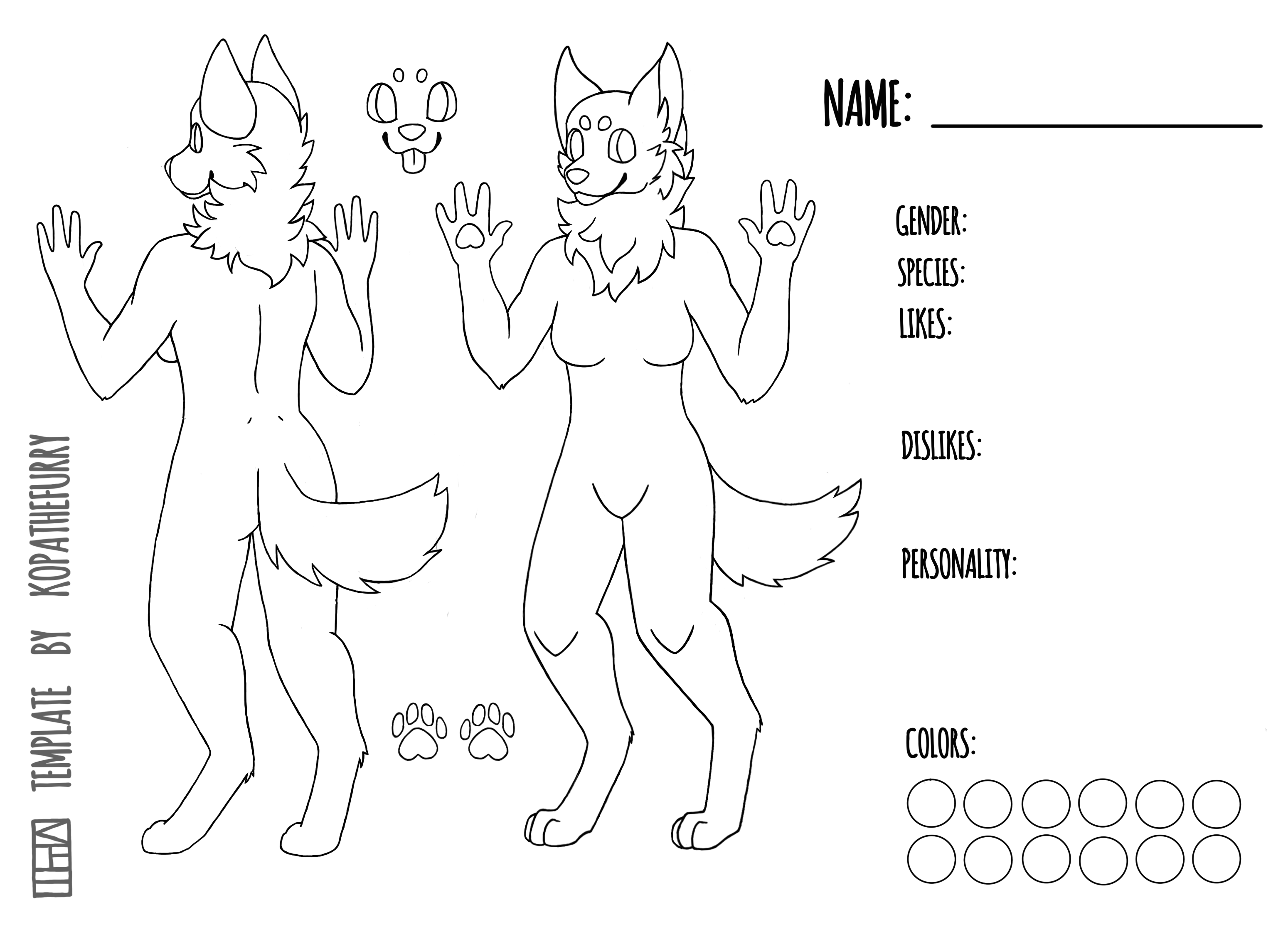 FREE Female Canine Template / Base by calypso art on DeviantArt