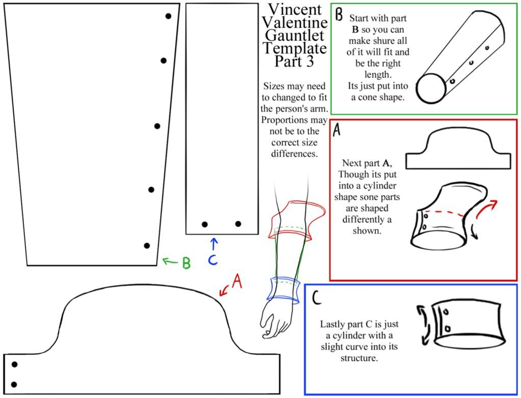 Free Gauntlet Templates   Vincent's Gauntlet Template 3 by