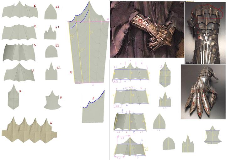 Lord of the Rings Witch King Gauntlet Templates
