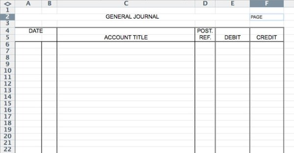 Accounting General Journal Template 4 – down town ken more