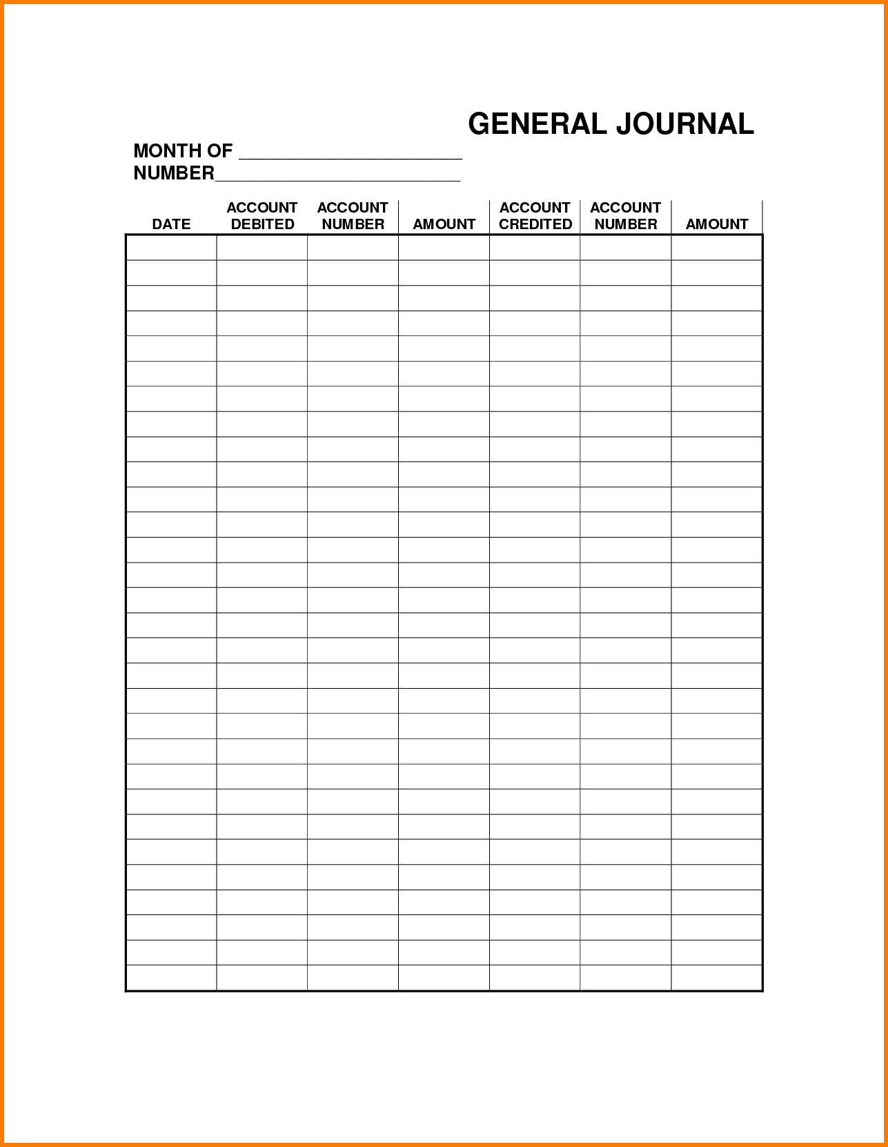 general journal template excel April.onthemarch.co