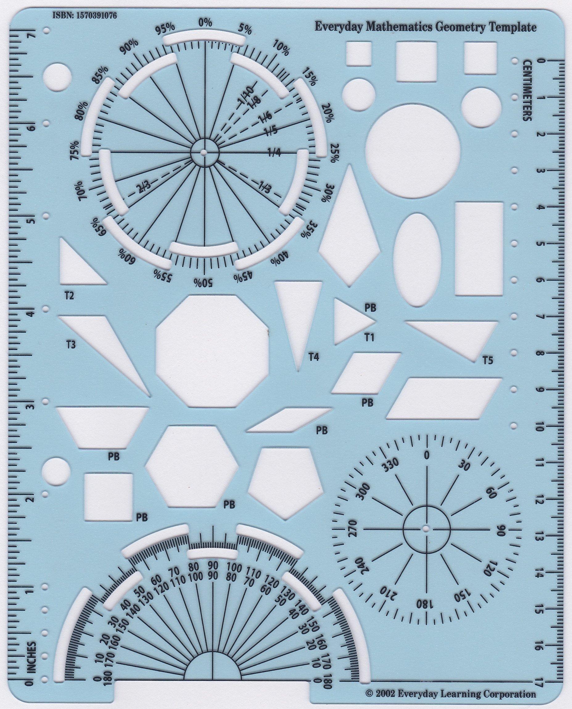 Everyday Mathematics: Geometry Template: University of Chicago