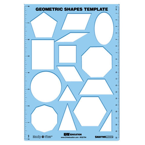 Geometric Shapes Template (Manip U View) Common Core State