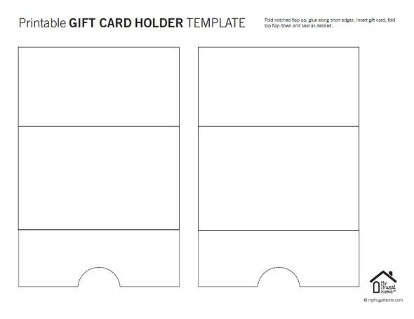 picture relating to Printable Gun Rack Template titled Present Card Holder Template