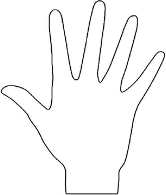 Hand Template | Preschool printables | Pinterest | Template