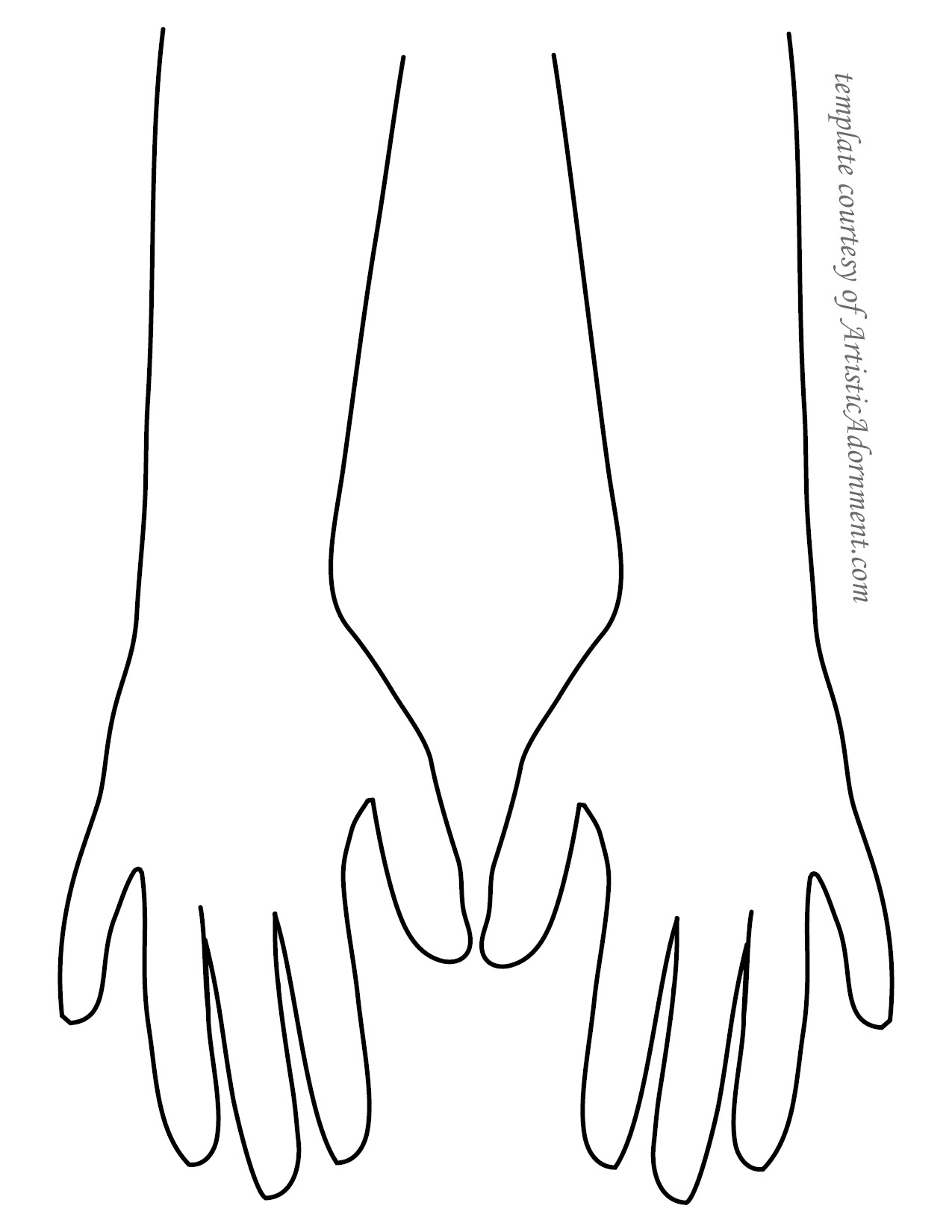hand templates April.onthemarch.co
