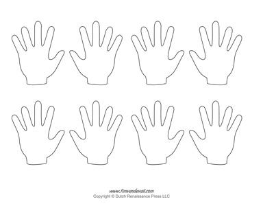 Blank Hand Template Printables | Handprint Templates