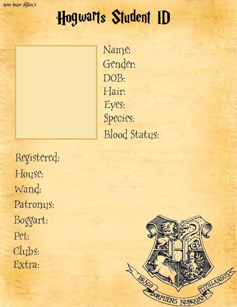 Hogwarts Student ID base. by Harry Potter Addict on DeviantArt
